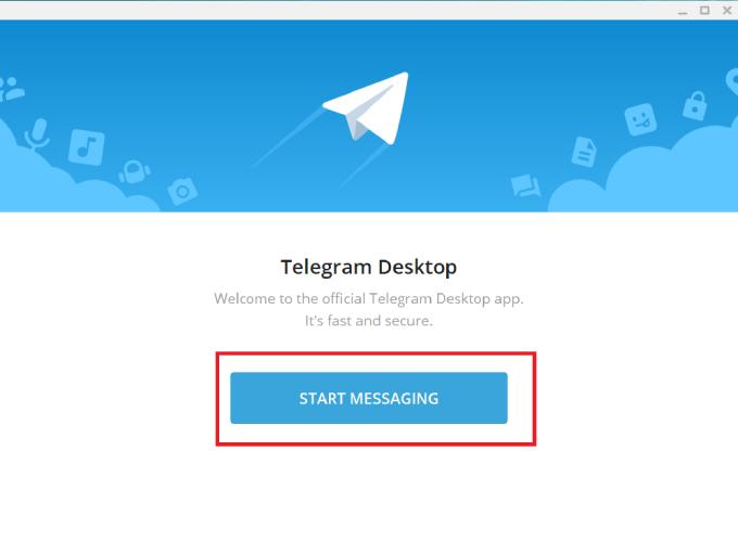 Telegram Start Messaging button
